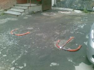 Тонкостенный парковочный барьер