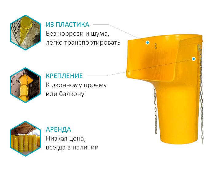 Строительные рукава для сброса мусора в Екатеринбурге